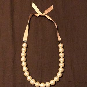 """1"""" beads on ribbon necklace"""